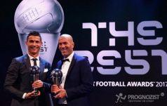 Роналду стал лучшим игроком 2017-го года по версии ФИФА, Зидан – лучший тренер