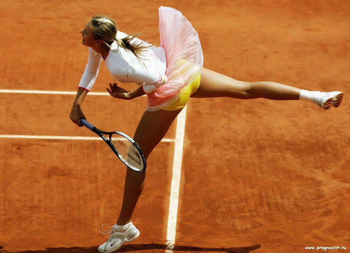 У теннисистки под юбкой Эротика, красивые и голые девушки