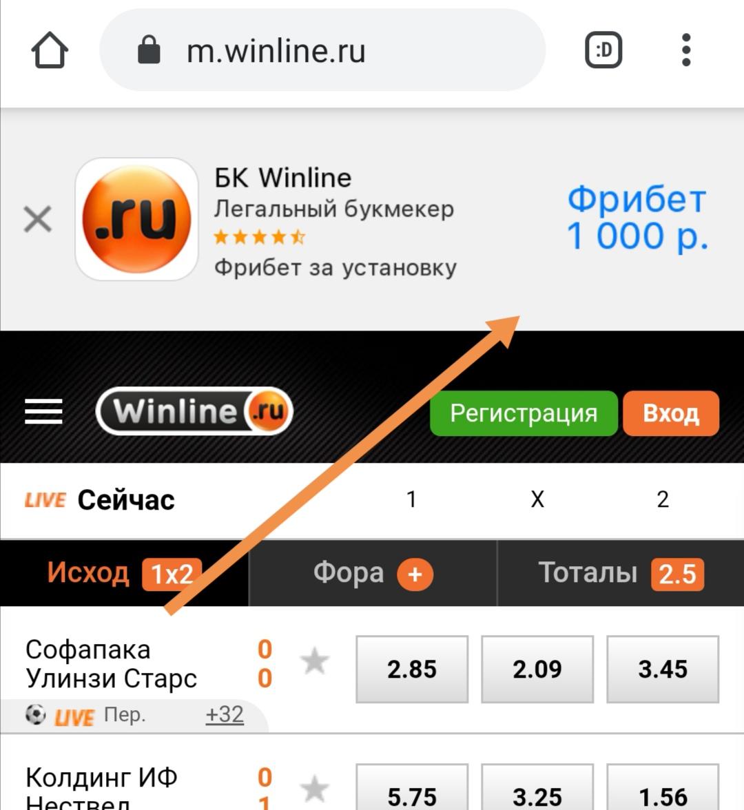 Приложение для мобильного от Винлайн